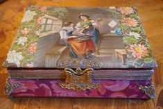 Victorian celluloid music box photo album - circa late or early
