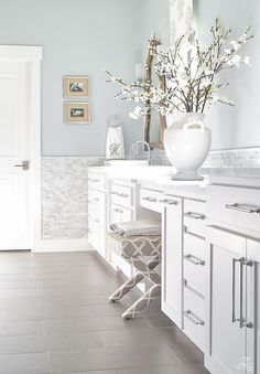before and after photos elegant master bathroom remodel and tour with tips on how to find your design style and how to use those tips to decorate your home