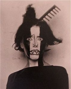 "Man Ray  ""Bronislava Nijinska""  1922. Painting a new facial expression on"