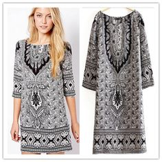 Black Paisley Print Flowy Dress $21.99  #fashion #paisleyprint #paisley #summerdress #tunic #minidress #style #luxuryfashion #mango #mangodress #blackandwhite #summerdress #springdress #summerfashion #springfashion #womensfashion #moda #estilo #trajes #minitrajes #tunicas #verano #trajesdeverano #trajesdeprimavera