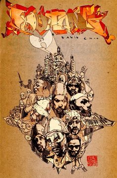 David Choe Artist Wu-Tang Clan Comic Cover Unpublished Los Angeles