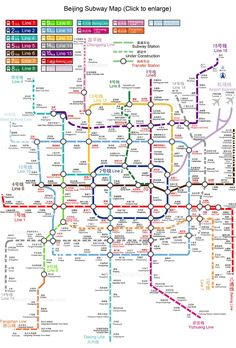 Beijing Subway Planning Map