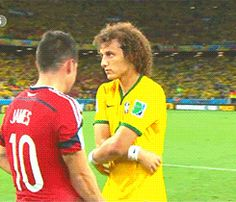 James Rodriguez y David Luiz