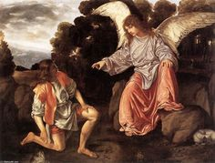 '`tobias` y el ángel', óleo sobre lienzo de Giovanni Girolamo Savoldo (1482-1548, Italy)