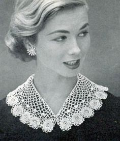 Irish Crocheted Collar