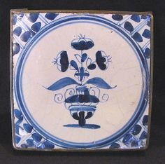 Antique Dutch Delft Blue and White Tile 18th Century | eBay