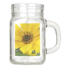 Tilted Sunflower Mason Jar - mason jars gifts ideas presents