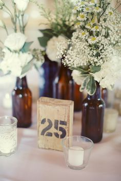 Loving everything about this vintage look! #weddingideas #tablenumbers {Luke Eshleman}
