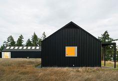 Orcas Island, Washington, modern house with black cladding   Atelier Drome Architecture
