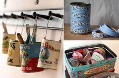 Reutiliza viejas latas y dales un nuevo uso
