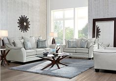 picture of Aberdeen Platinum 7 Pc Living Room  from Living Room Sets Furniture