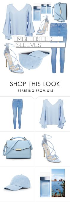 """""""February 18th: Embellished Sleeves """" by world-meets-girl ❤ liked on Polyvore featuring Dondup, White Label, Steve Madden, Sole Society and Dolce&Gabbana"""