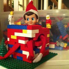 Elf on the Shelf Imprisoned in lego :)