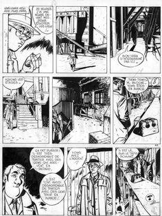 Planche originale de bande dessinée, galerie Napoléon  : JÉRÔME K. JÉRÔME BLOCHE - Planche originale 41 de Jérôme K. Jérôme Bloche Tome 2 Les êtres de papier par Alain DODIER - 41