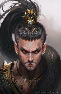 Snake king (drago) fantasy in 2019 ihlet történetíráshoz, ra Character Creation, Character Concept, Character Art, Concept Art, Fantasy Portraits, Character Portraits, Fantasy Artwork, Fantasy Male, Fantasy Warrior