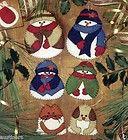 Mittens Felt Applique Christmas Ornaments KIT Rachel'S OF Greenfield
