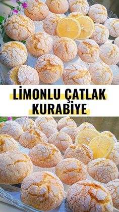 Limonlu Çatlak Kurabiye (Birebir Tarif) – Nefis Yemek Tarifleri Cracked Cookies with Lemon (One-to-One Recipe) – Yummy Recipes Yummy Recipes, Vegan Recipes Easy, Diabetic Recipes, Yummy Food, Cheesecake Recipes, Cookie Recipes, Broken Biscuits, Cracked Cookies, Pan Relleno