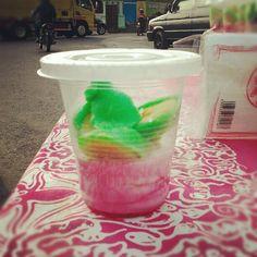 Banana Ice Cream (Es Krim Pisang Ijo) at Temanggung city square (Photo @prasouma)