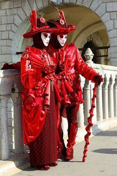Carnevale di Venezia 2014 ...vibrant in red