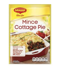 Mince Cottage Pie Maggi Recipes, Cottage Pie, Meat Pies, Balanced Meals, Minced Onion, Frozen Vegetables, Gluten Free Diet, Budget Meals, Health And Nutrition