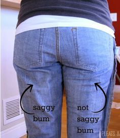 This is the easiest way to fix this common issue: all you have to do is put your pants on inside out!