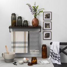 Love these amber glass canisters from Hearth and Hand Magnolia. It would add nice touch of fall brown to our home decor. Bath Canister - Amber - Hearth & Hand™ with Magnolia Wooden Wall Shelves, Bar Shelves, Wooden Walls, Bathroom Towels, Kitchen Towels, Bathroom Shelves, Master Bathroom, Bathroom Ideas, Bathroom Plans