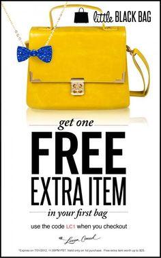 Little Black Bag: Special offer for #LaurenConrad readers