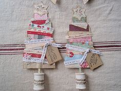 Great way to use up scraps of paper and trim.