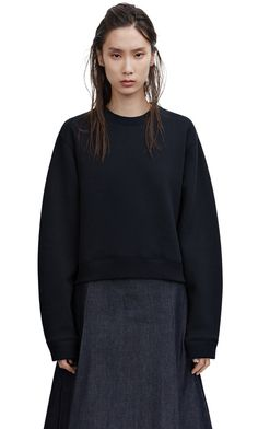 Bird Fl Black Hoodies, Sweatshirts, Acne Studios, Cool Things To Buy, Ready To Wear, Bell Sleeve Top, Clothes For Women, Cotton, How To Wear