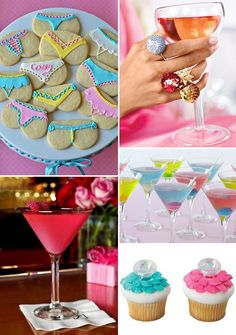 Martini Party - this was pinned as a bachelorette party idea, but I think this could be a totally fun kick off to a girl's night out or something! :)