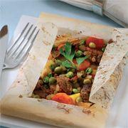 Sebzeli Kagit Kebabi (Lamb Kebab With Vegetables) Recipe  http://www.yemek-tarifi.info/english/recipe.php?recipeid=348