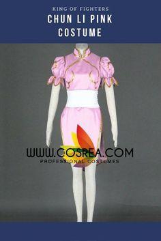 King Of Fighters Chun Li Pink Cosplay Costume