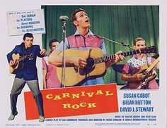 CARNIVAL ROCK 1957 movie on DVD.  Grade-A rockabilly performances by Bob Luman and David Housto.  A teenage James Burton (Guitarist for Ricky Nelson and later, Elvis) wails on guitar! A sleazy night-club changes ownership though a high stakes, high drama card game. Terrific catfight scenes!