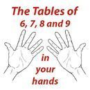 Multiplication the Fast Way! Tables of 6, 7, 8 and 9 in your hands ~I heard this trick on the radio and it saved my life. Since then I've taught it to many other kids. I passed such a bad time at school as I was the only one in my class who didn't know the tables so I hope this trick was useful for any parent or teacher who knew any child in this situation