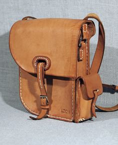Leather Bag by Leon Litinsky.