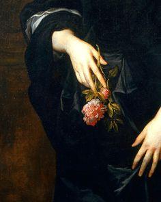 Sir Anthony Van Dyck; detail of Lady Dacre.