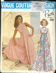 VIntage Vogue Pucci of Italy Couturier Design Pattern 2113 Culotte Size 10 Vintage Dresses, Vintage Outfits, Vintage Fashion, Culotte Dress, Jumpsuit Culottes, Vintage Vogue Patterns, Jumpsuit Pattern, Jacket Pattern, Pattern Fashion