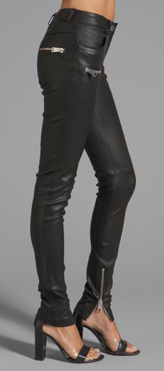 Anine Bing Leather Skinny Pant
