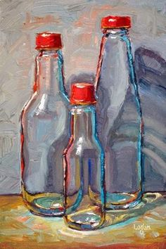 """Daily Paintworks - """"Red Caps"""" by Raymond Logan"""