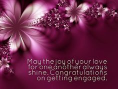 34 best engagement wishes images on pinterest engagement wishes may the joy of your love for one another always shine congratulations on getting engaged m4hsunfo