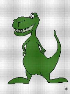 Playful dinosaurs dinosaur crochet afghan pattern graph Patterns, Blankets ...