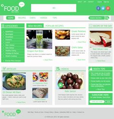 Web Layout for a Food/Recipe site.