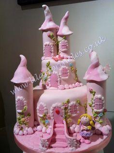Pink Fairy Castle Cake