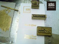Probando con tinta oro!
