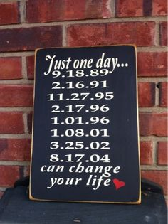 Personalized Sign with dates that reflect defining moments in your life  (will be on etsy soon)