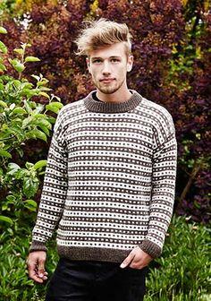Icelandic sweater for him Fair Isle Knitting, Knitting Yarn, Nordic Sweater, Men Sweater, Love Is Scary, Icelandic Sweaters, Baby Sweaters, Knitting Designs, Sweater Fashion