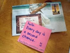Every day is a second chance. #foundhello
