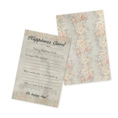 18047 Gypsy Moments Cards - Happiness Card measures 4 x 6 and there are 10 cards per pack  - the perfect way to capture moments of happiness - daily weekly or to share some happiness - #gypsymoments #personaljournal #vintagecrafts #happinesscard