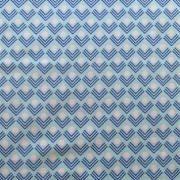 """Ellen Luckett Baker Framework C 15% Linen/85% Cotton, canvas, 44/45"""" wideanvas - Corners (Blue)"""