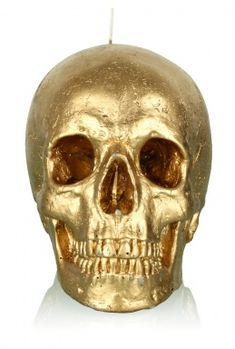 Gold Skull Candle by Koff
